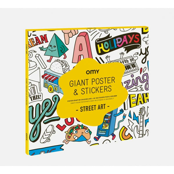 omy street art sticker poster, fun activities for kids free shipping kodomo boston