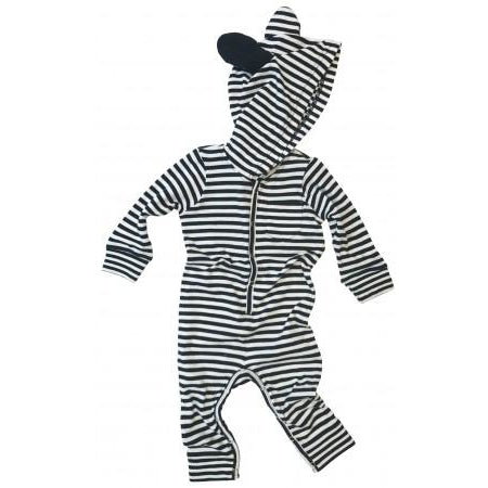 goat-milk baby union suit with ears striped - kodomo boston. free shipping.