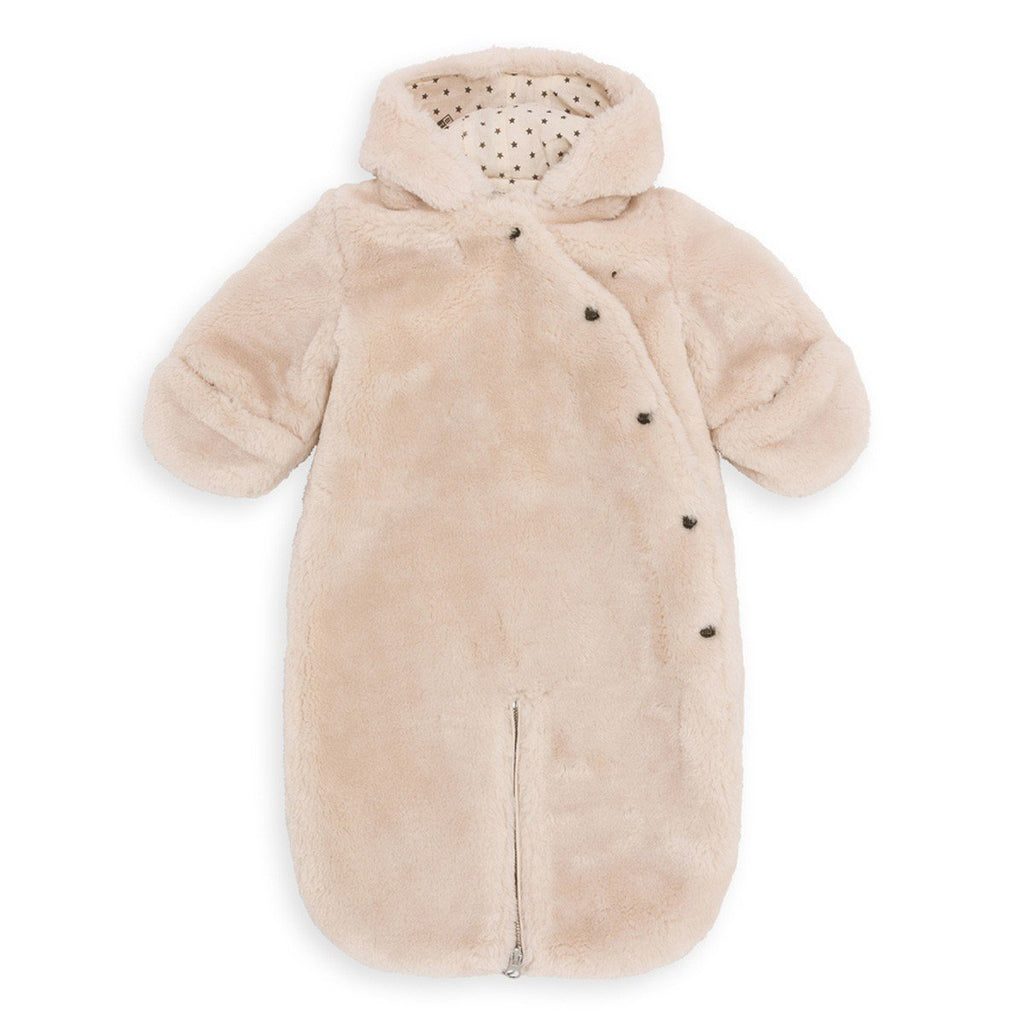 bonton baby fur snowsuit