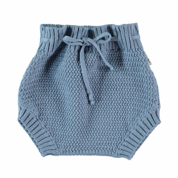 my little cozmo culotte knit blue jeans - kodomo boston, free shipping.