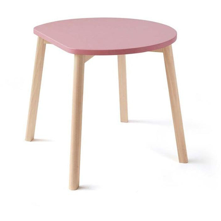 ooh noo pink half-moon table, sustainably made children's furniture
