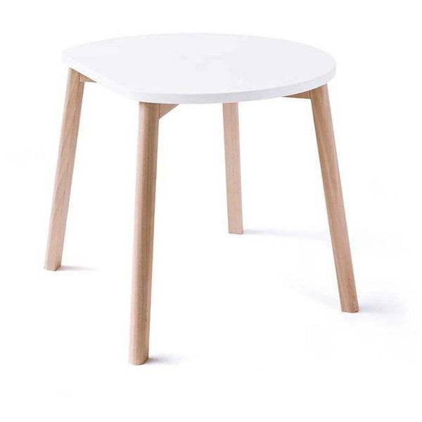 ooh noo white half-moon table, sustainably made children's furniture