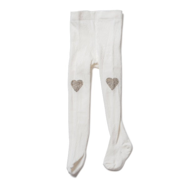 bonton baby heart tights milkyway, babies tights