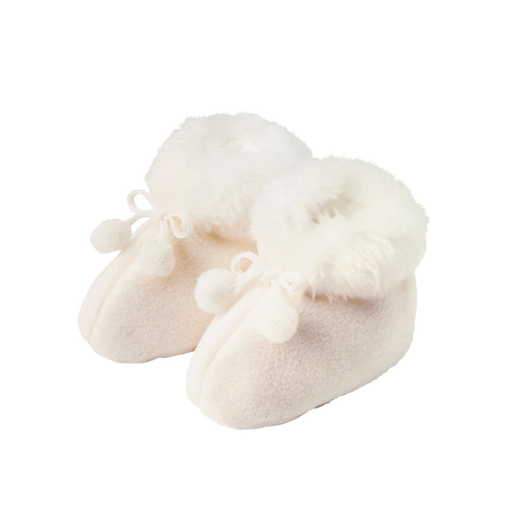 miki house baby booties white - kodomo boston