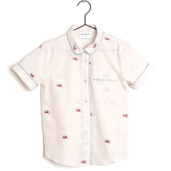 wolf & rita ss19 new collection viviana girls shirt boats and roads - kodomo boston free shipping