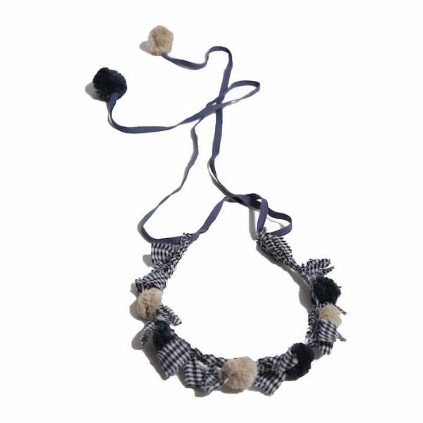 tia cibani new spring summer girls collection eve scrolled wreath necklace denim - free fast shipping on all orders over $99 from kodomo