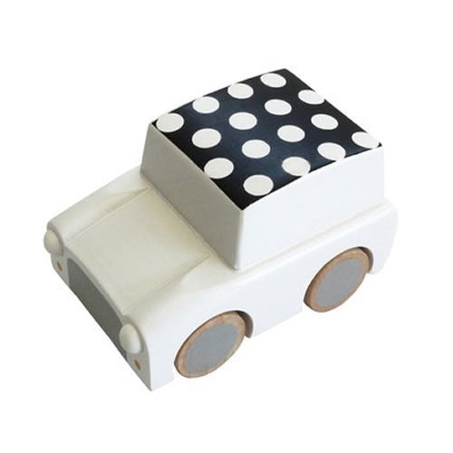 kukkia white dots kuruma car - kodomo wooden toys - children's clothing in boston, kukkia - bobo choses, atsuyo et akiko, belle enfant, mamma couture, moi, my little cozmo, nico nico