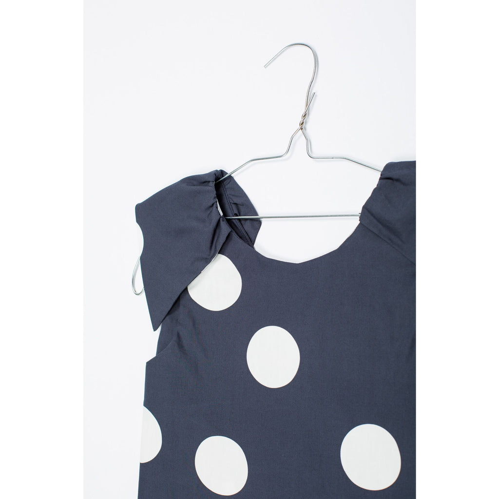 motoreta new kids spring summer collection. carmen girls top in polka dots. fast free shipping from kodomo boston.