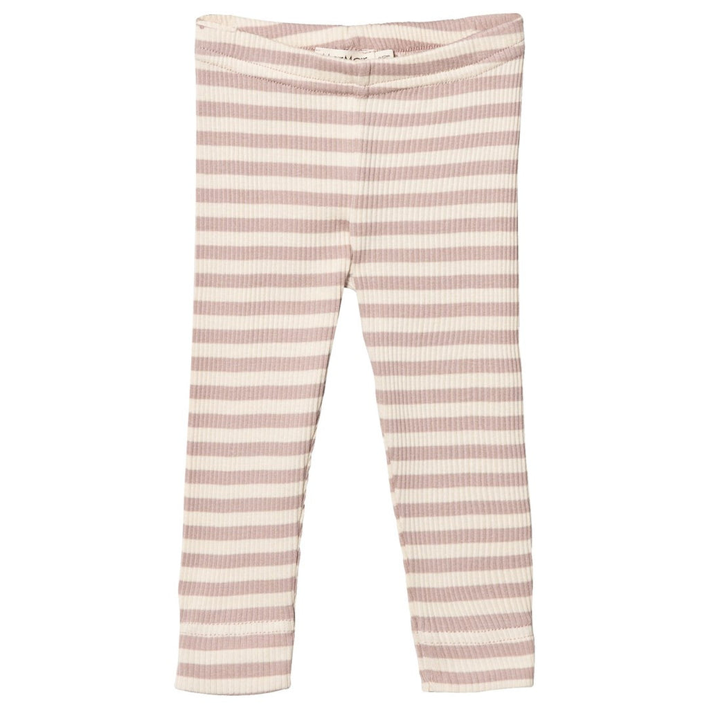 marmar copenhagen faded rose stripped leggings - kodomo
