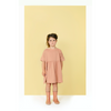 gray label loose fit dress rustic clay, girl's organic cotton dresses