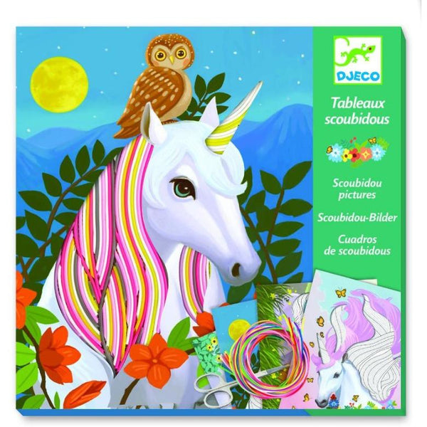 djeco scoubidou magic manes, children's creative arts crafts