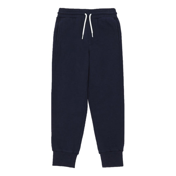 hundred pieces loose joggers midnight blue, unisex children bottoms, tapered sweatpants