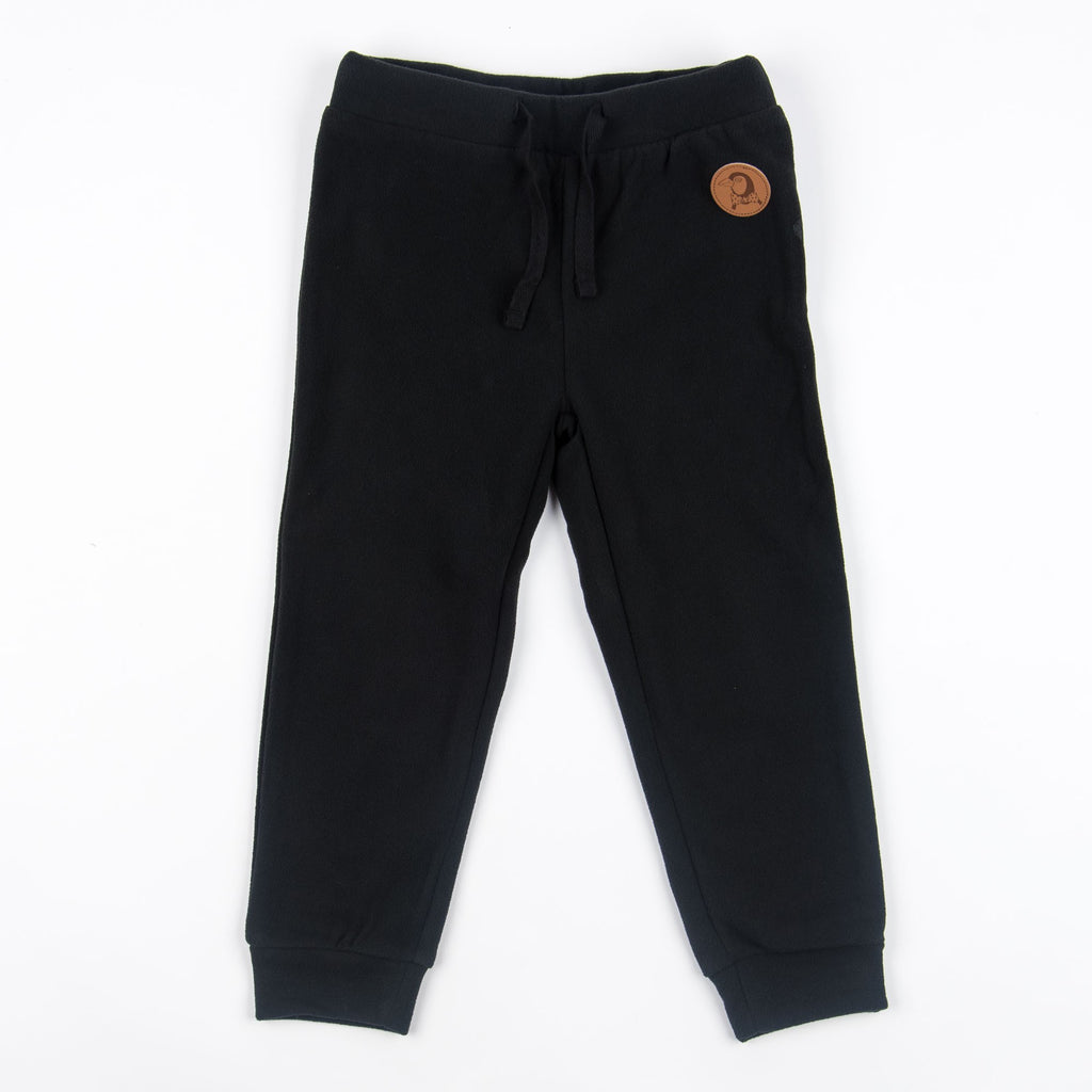 mini rodini fleece trouser black - kodomo