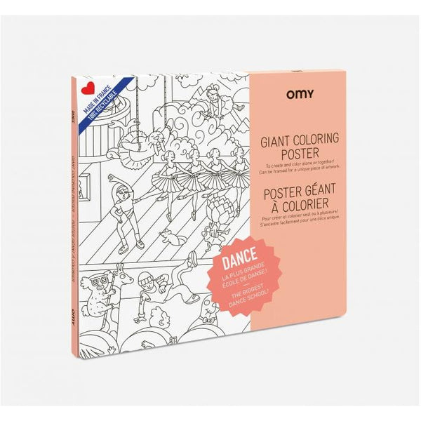 omy giant coloring poster dance, free shipping kodomo boston