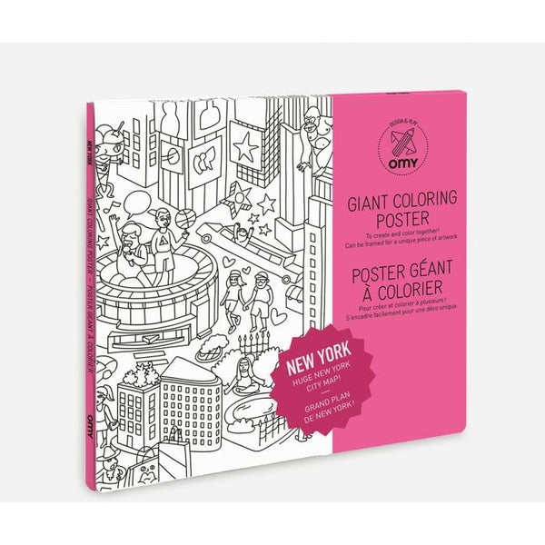 omy coloring poster new york city - kodomo