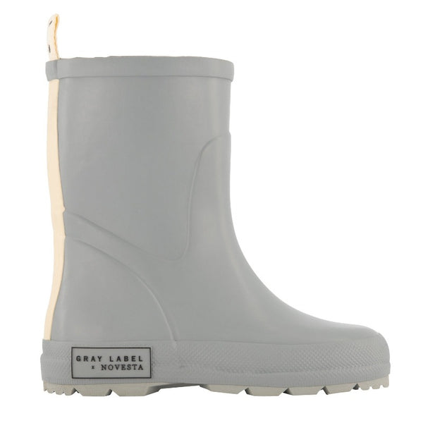 gray label X novesta, rain boots, grey, childrens footwear