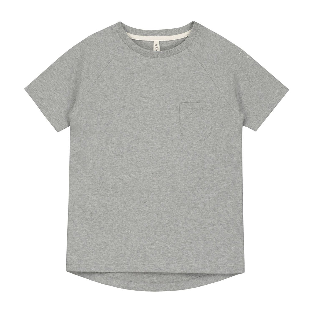 gray label new spring summer kids & baby collection classic crew neck t-shirt in heather grey - free fast shipping on all orders over $99 from kodomo