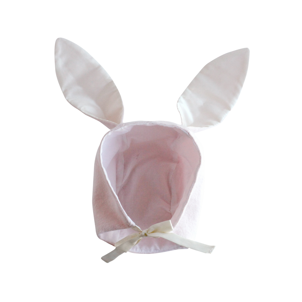 elliefunday organic flannel bunny hat pink - kodomo baby hats - children's clothing in boston, elliefunday - bobo choses, atsuyo et akiko, belle enfant, mamma couture, moi, my little cozmo, nico nico