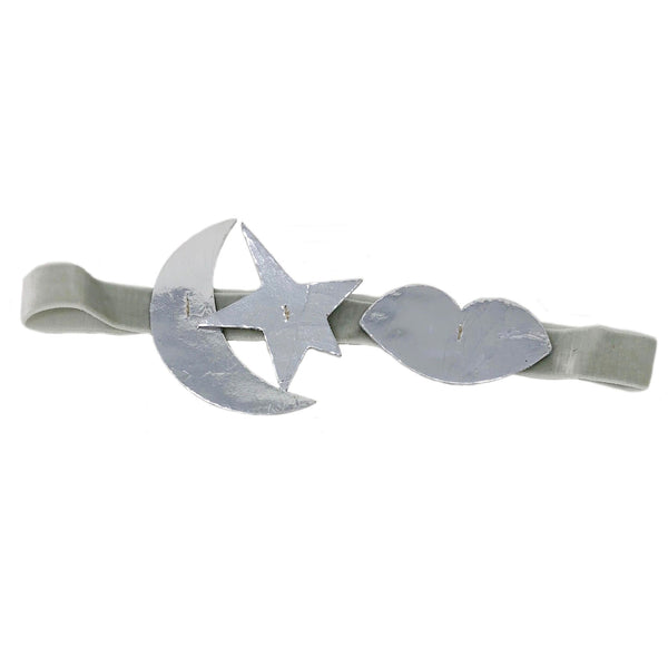 atsuyo et akiko new girls collection serendipity leather headband silver - free fast shipping on all orders over $99 from kodomo