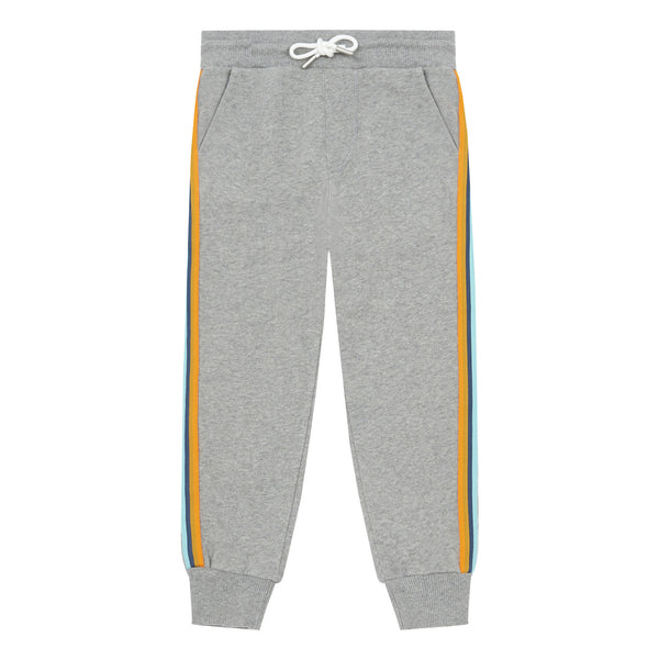 hundred pieces organic cotton joggers grey, kids and tweens spring summer clothes at kodomo boston, free shipping
