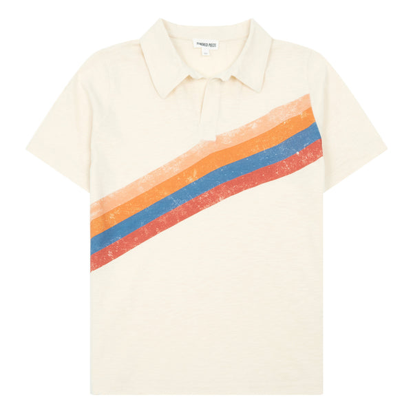 hundred pieces organic cotton polo shirt off white, tweens and kids shirts for spring summer 2020 from kodomo boston, free shipping