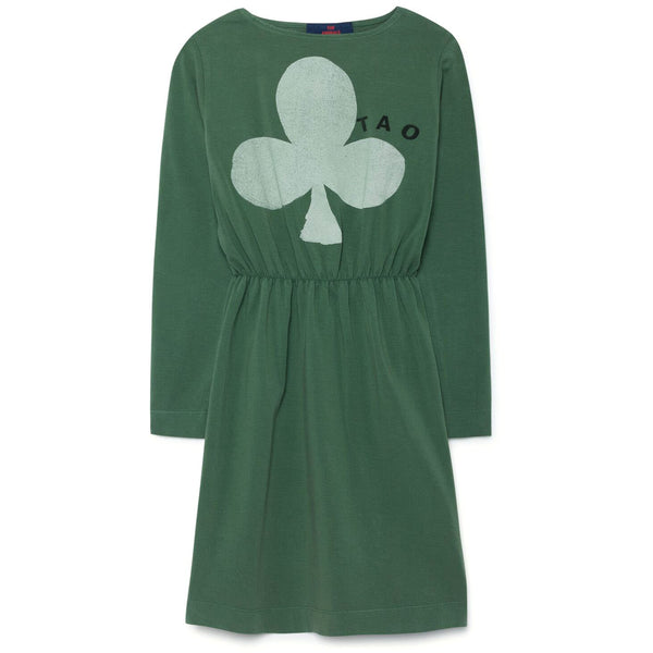 the animals observatory crab dress green white clover - kodomo