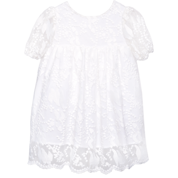 paade mode new spring summer girls collection embroidered dress in pearl - free fast shipping on all orders over $99 from kodomo