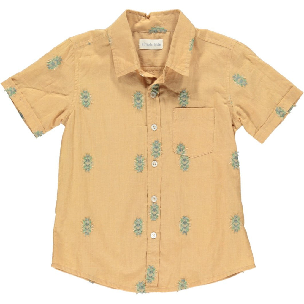 simple kids palu shirt mustard