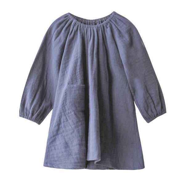 boy+girl peasant dress with bloomers navy