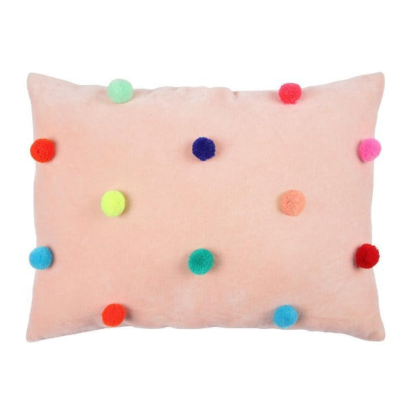 meri meri pom pom cushion, children's bedroom nursery decor, cushions