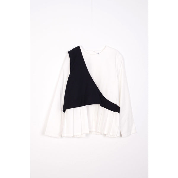 motoreta altair blouse white and black - kodomo