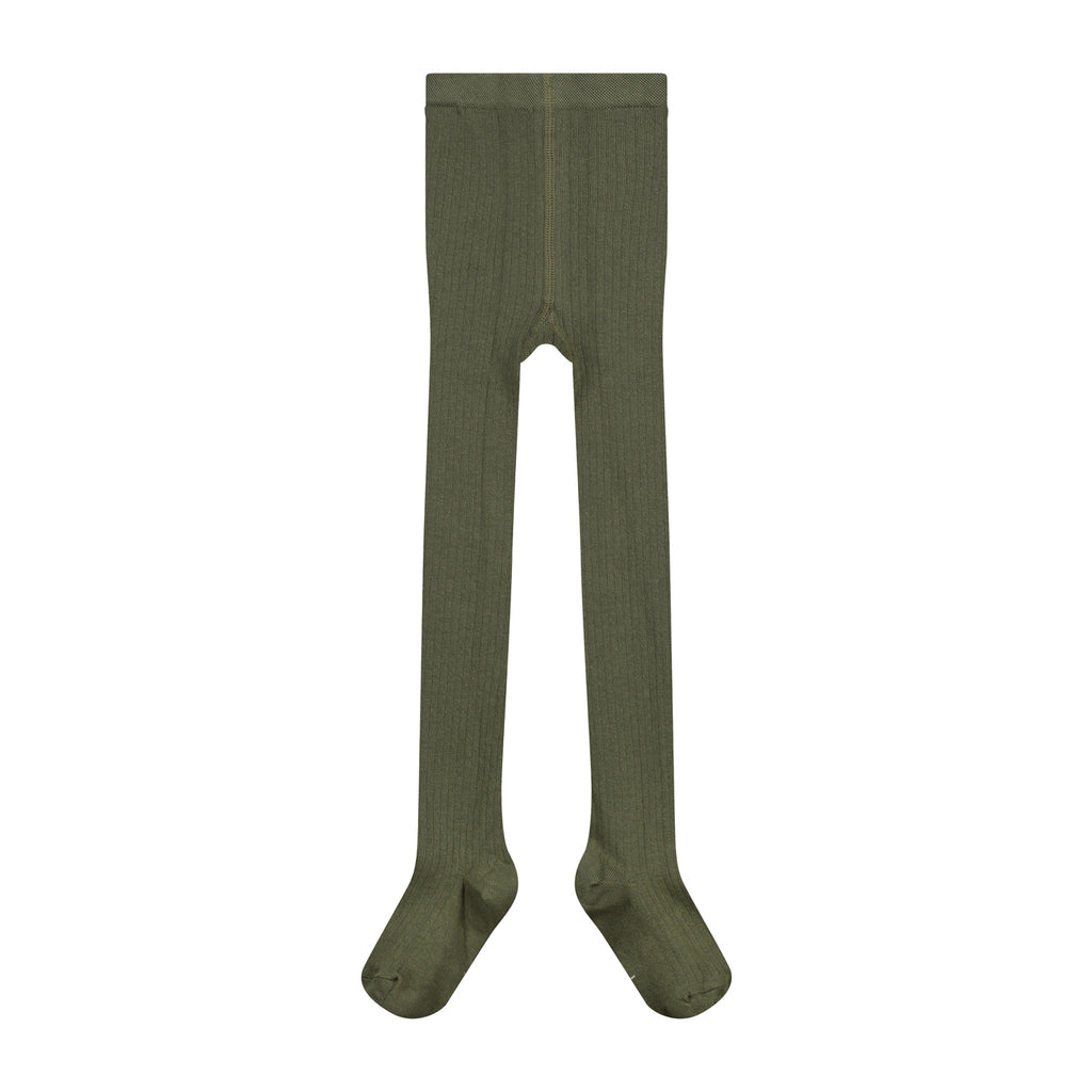 gray label ribbed tights moss