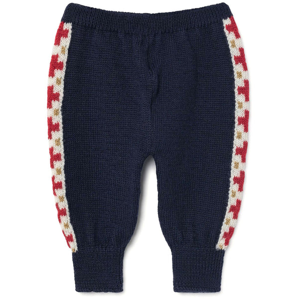 the animals observatory plain caribou babies pants deep blue - kodomo