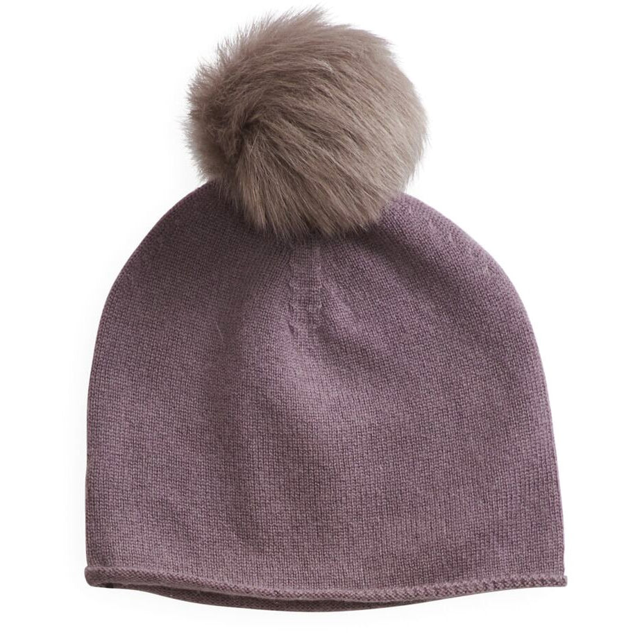 belle enfant hat with shearling pompom mauve - kodomo