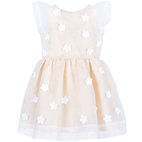 hucklebones flutter sleeve bodice dress primrose - easter and holiday dresses available at kodomo boston free shipping