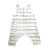 mademoiselle à soho baby salopette in light stripes, organic baby clothing at kodomo boston