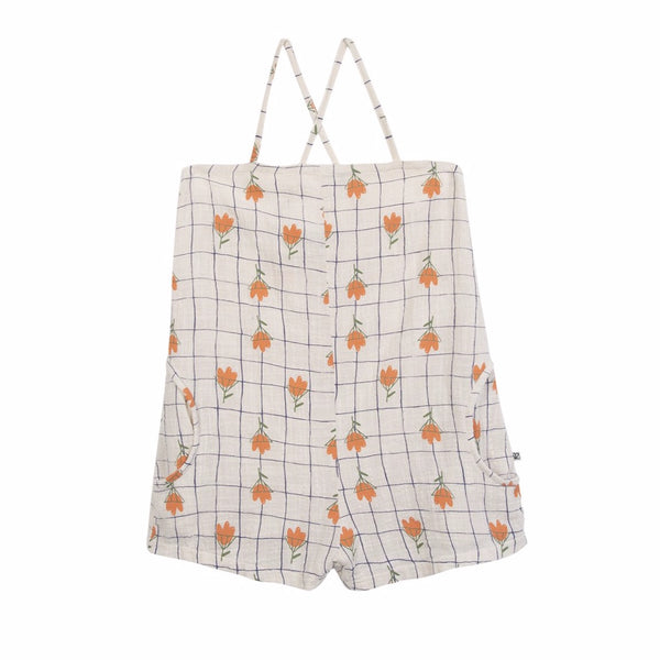barn of monkeys flowers jumpsuit natural, ethical and comfortable kids clothing for spring summer 2020 at kodomo boston, free shipping