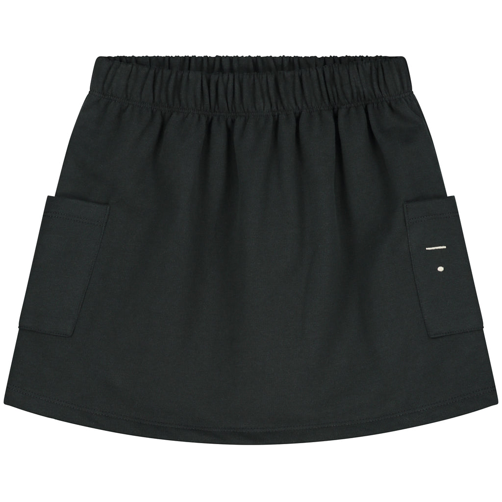 gray label pocket skirt black - kodomo boston, fast shipping, girls bottoms