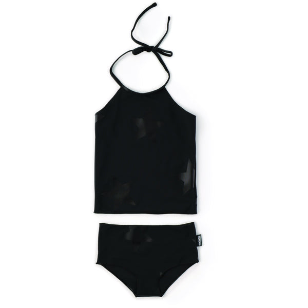 nununu star collar bikini black - kodomo boston, fast shipping