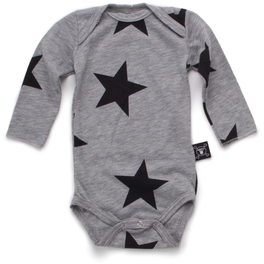 nununu long sleeve star onesie - kodomo