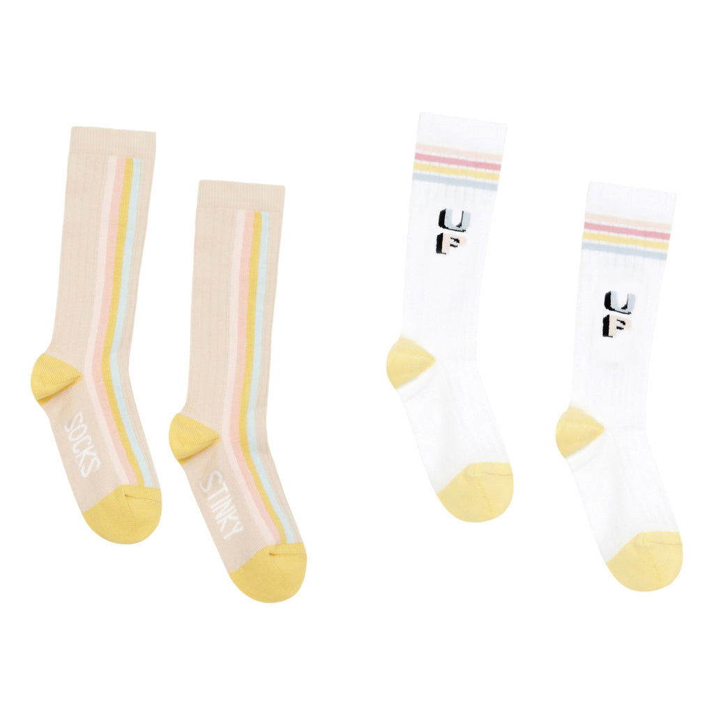 hundred pieces stinky get up sock set white, spring summer girls socks and accessories at kodomo boston, free shipping