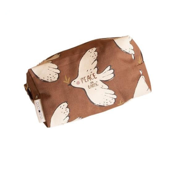 studioloco large canvas pencil case bird, kids bags accessories