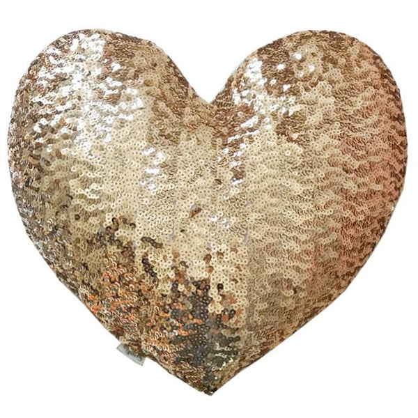 atsuyo et akiko heart sequins cushion gold - free fast shipping on all orders over $99 from kodomo