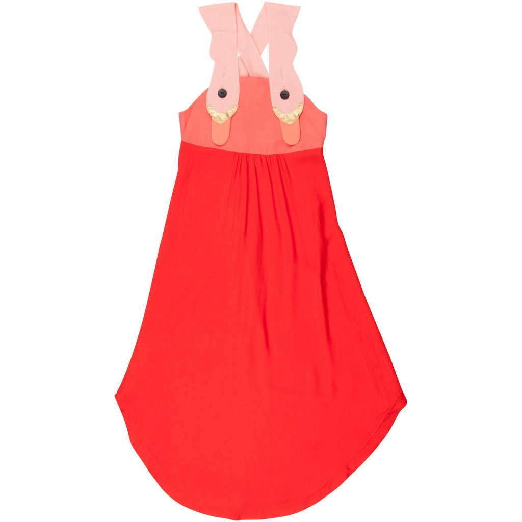 wauw capow by bangbang copenhagen new spring summer girls collection dream dress in red and light pink - free fast shipping on all orders over $99 from kodomo