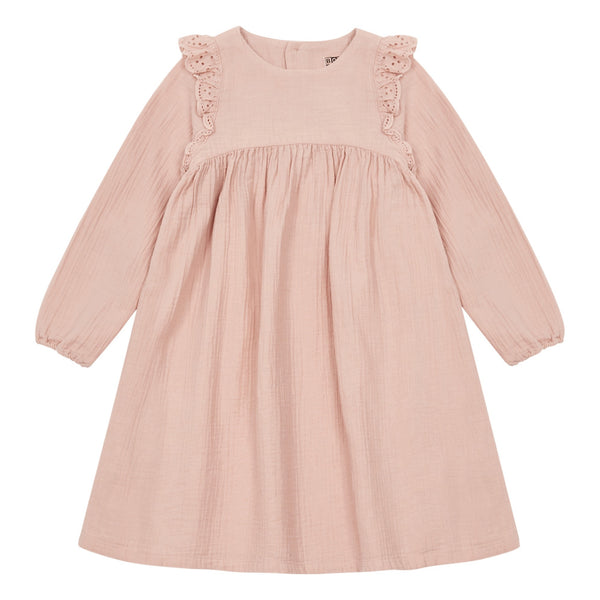 bonton sunnys ailette dress rose - kodomo boston, fast shipping.
