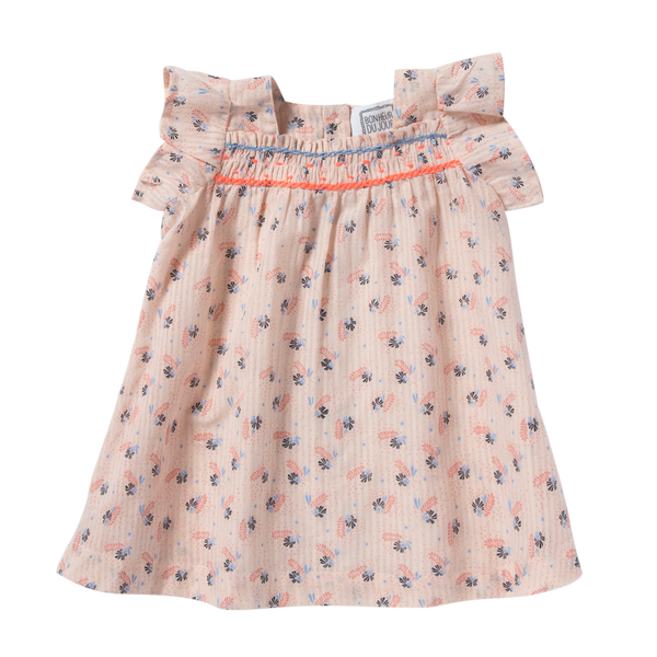 bonheur du jour iris dress flowers - kodomo boston, fast shipping, new baby dresses for summer.