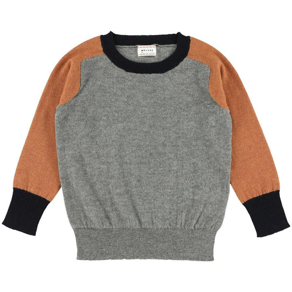 morley ken mirage pullover midgrey - kodomo boston, free shipping, soft boys pullovers, kids soft sweaters
