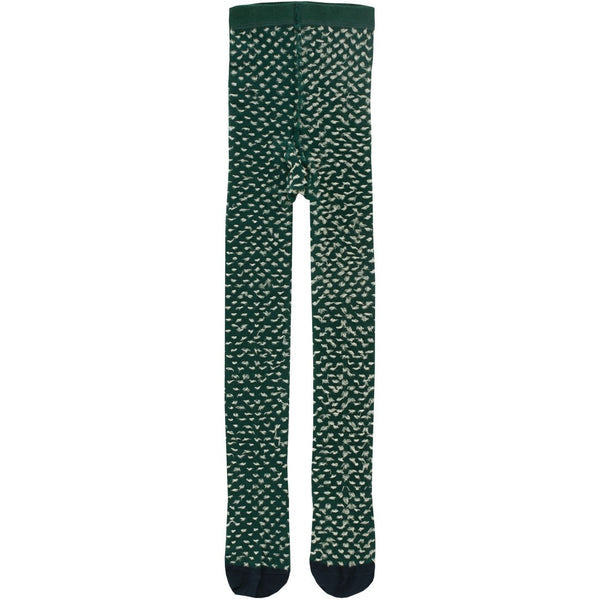 tinycottons hairy tights dark green/eggnog - kodomo