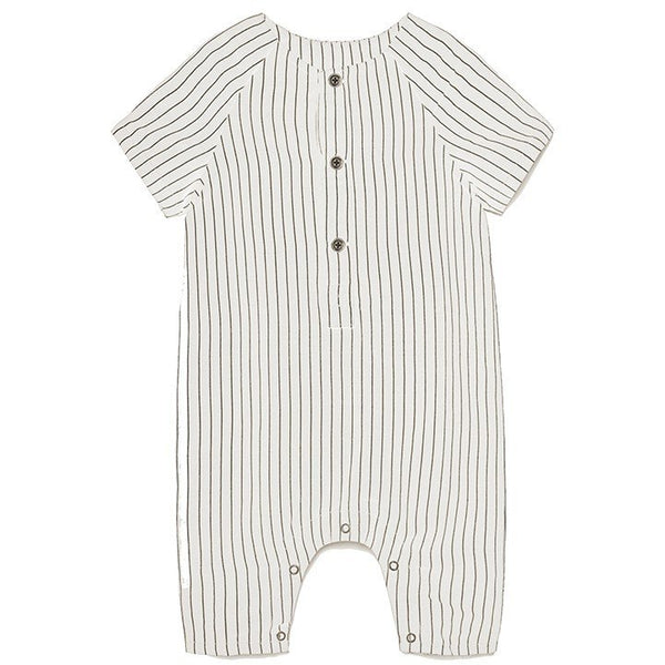 little creative factory tap baby jumpsuit white - kodomo