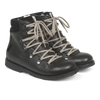 angulus tex boot black with zipper and laces, children's shoes